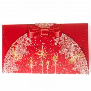 Coffret festif rouge 32 X 18 X 10 cm