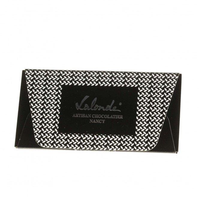 Tablette chocolat noir, praliné feuilleté parfumé à la bergamote