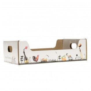 """Petite cagette carton """"Les Fous de Terroirs"""" 28 X 18.5 X 9 cm"""