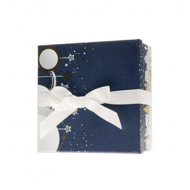 Coffret carré décor Noël 21 X 21 X 9 cm