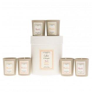 Coffret 6 bougies végétales parfumées