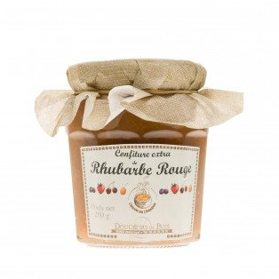Confiture extra de rhubarbe rouge, 250g