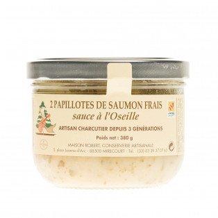 Papillotes de saumon frais sauce à l'oseille