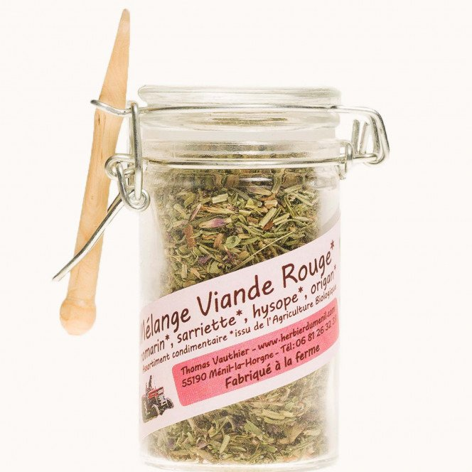 Mélange aromatique bio romarin, sarriette, hysope, origan