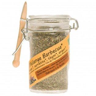 Mélange aromatique bio sauge, sarriette, thym, origan
