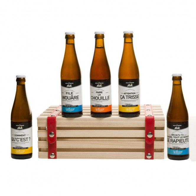 Coffret bières en bois