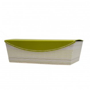 Coffret rectangle vert, gris et blanc 35 X 23 X 11 cm