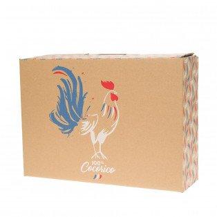 Valisette carton 100% cocorico 34.2 X 25 X 11.5 cm