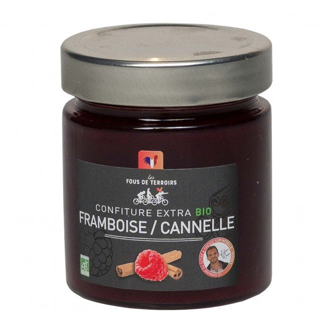 Confiture extra framboise / cannelle bio