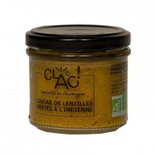 Caviar de lentilles vertes à l'indienne bio