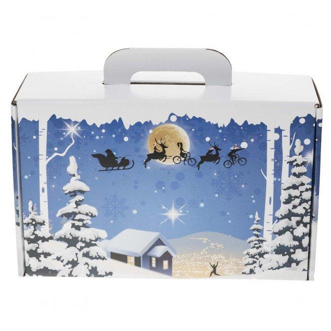 Petite valisette carton décor Noël 32.7 X 21 X 11.5 cm