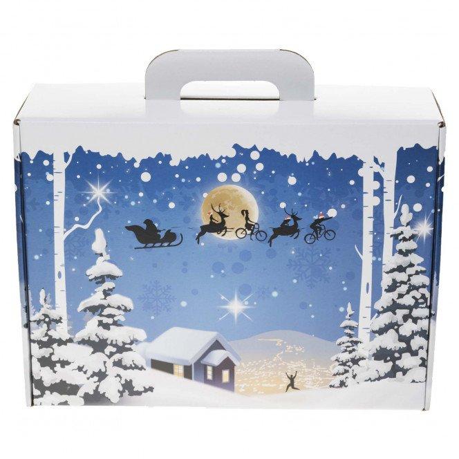 Valisette carton décor Noël 34.5 X 26 X 11.5 cm