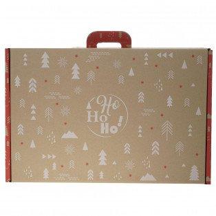 """Grande valisette carton """"Ho Ho Ho !"""" 54 X 36 X 12.5 cm"""