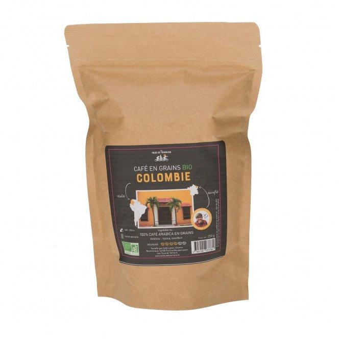 Café en grains bio 100% arabica Colombie