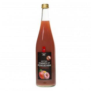Nectar de pommes et pêches de vigne