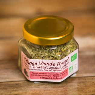 Mélange pour Viande Rouge Herbes Bio, 20 gr