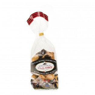 Spritz au beurre enrobés de chocolat noir, 200g