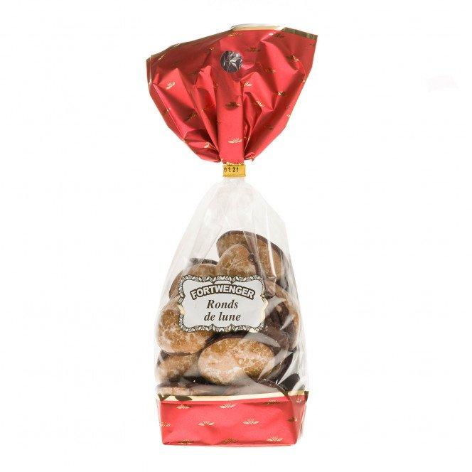 Ronds de lune : pains épices fourrés aux fruits , 250 gr