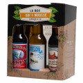 La box qui mousse : 5 bières + 1 verre + 5 sous-bocks