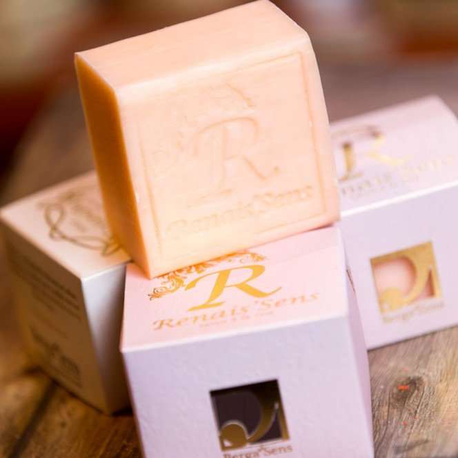Savon Renais'sens à l'huile essentielle de Rose
