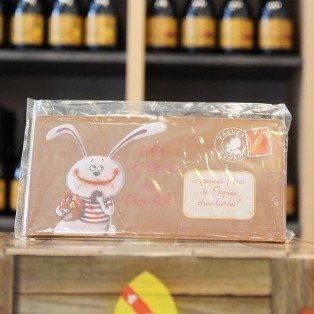 Carte postale en chocolat