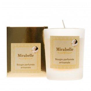 Bougie artisanale parfumée à la Mirabelle, 125 gr