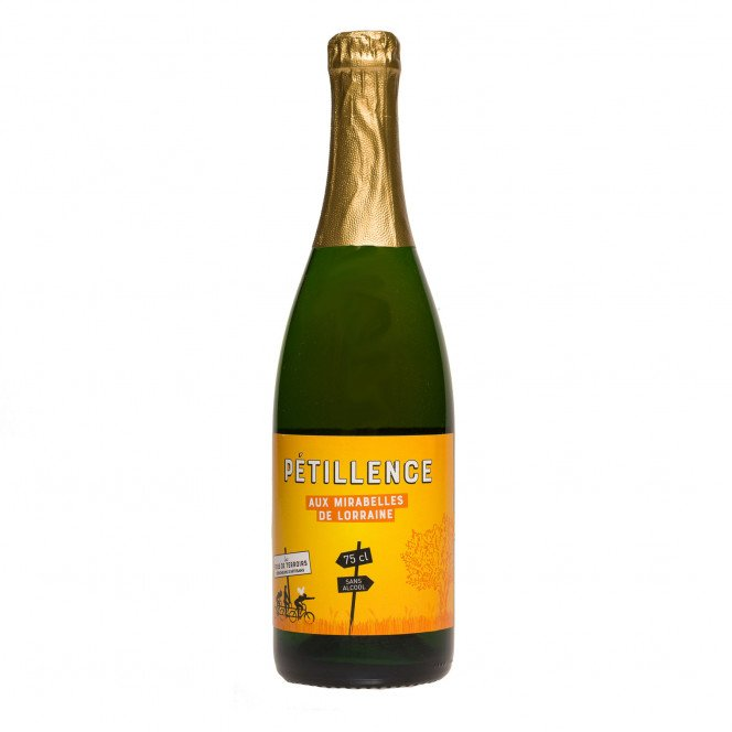 Pétillant sans alcool aux mirabelles de Lorraine, 75 cl