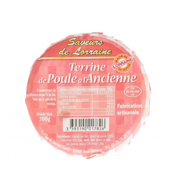 Terrine de Poule à l'Ancienne, 100 gr