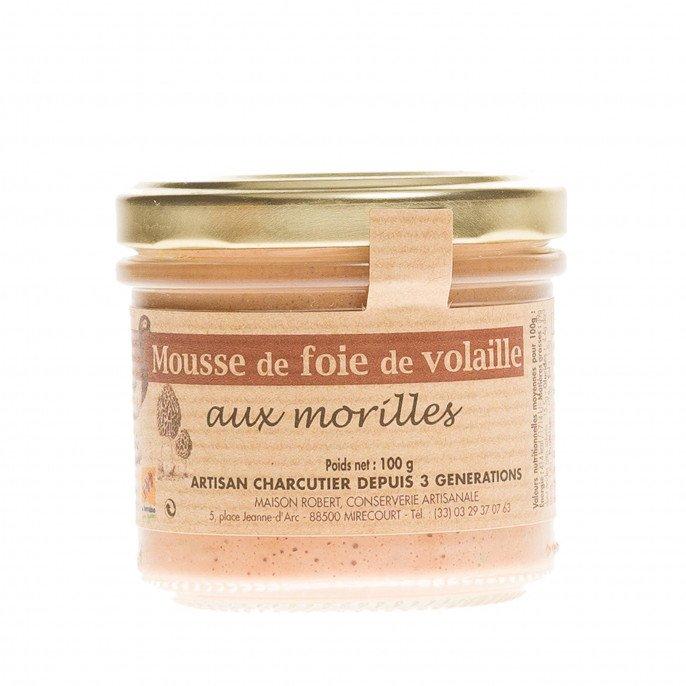 Mousse de Foie de Volailles aux Morilles, 100 gr