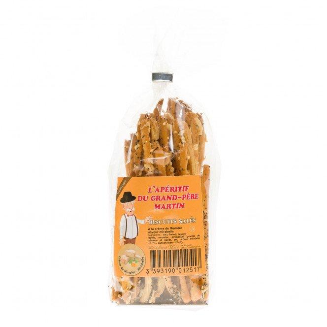 Biscuits Salés à la crème de Munster saveur Mirabelle, 50gr
