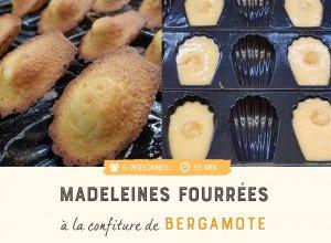 Madeleines fourrées à la confiture de bergamote